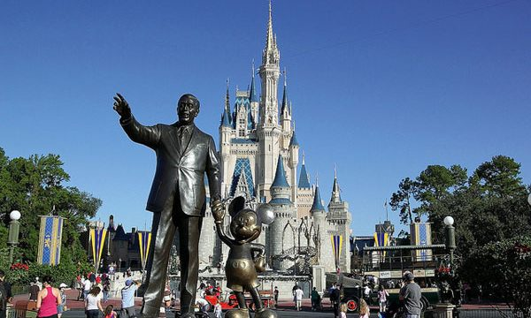 Walt Disney statue at Disney world - Orlando, Florida