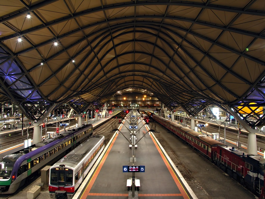 Melbourne train station, view from a height