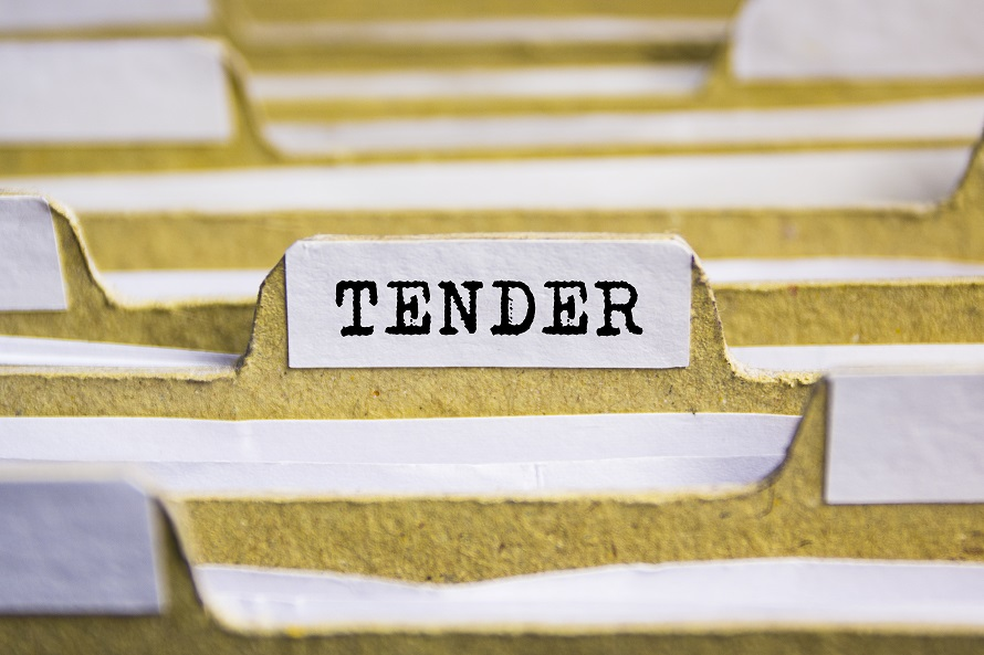 Folder stack with tab titled Tender